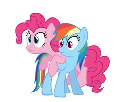 Pinkie Pie and Rainbow Dash | Rainbow dash and Pinkie pie vector by keeveew on deviantART