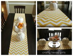 Crafty Texas Girls: Crafty How-to: No-Sew Table Runner