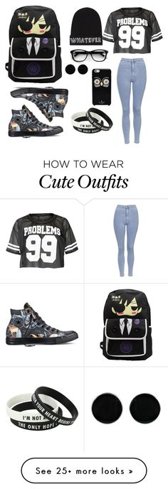 """""""Weekend outfit"""" by flowerlover33 on Polyvore featuring Topshop, Converse, Local Heroes, Kate Spade and AeraVida"""