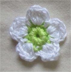 Appliques Au Crochet, Crochet Motifs, Form Crochet, Filet Crochet, Irish Crochet, Patron Crochet, Crochet Diy, Crochet Ideas, Knitted Flowers