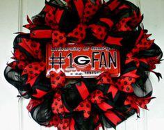 UGA Wreath Alabama Wreath Georgia Alabama Wreath by MeMaandCo