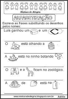 Frases enigmáticas alfabetização
