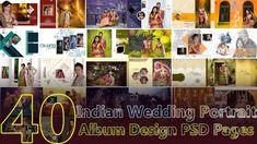 40 Indian Wedding Portrait Album Design 12x36 PSD Pages   By Studiopk.in