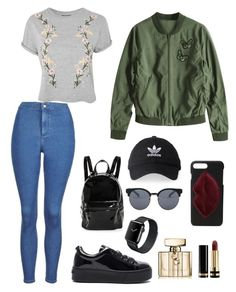 """""""Outfit of the Day ✨"""" by jarabcande on Polyvore featuring moda, Topshop, Kenzo, Kendall + Kylie, Studio 33, adidas, Gucci y Quay"""