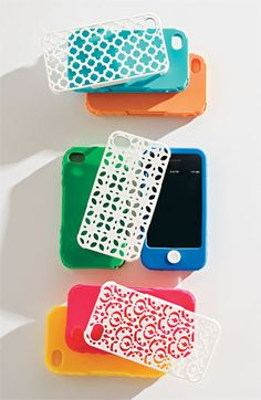Wrap your phone in style! Now on Sale $25.00  Each case includes:   2 interchangeable inner wraps and   1 durable, stylish outer shell  *Impact resistant and gorgeous  * Absolutely no paint to fade, scratch, or rub off.