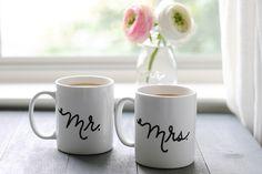 DIY Sharpie Wedding Mugs - Darby Smart