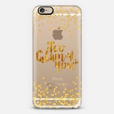 """""""Too Glam 4 You - Shimmer Yellow Gold"""" by Artist Julia Di Sano, Ebi Emporium on @casetify, Gold Color Sparkle #Glamorous #Chic #PolkaDots #Typography Quote #Style #Fashion #Feminine Modern #Girly Pattern Lovely Art #iPhoneCase #iPhone5 #iPhone6 #iPhone6s #iPhone6plus #iPhone6sPlus #iPhone5c #SamsungGalaxy #android #tech #shimmer #glam #sparkle #transparent #case #gold #metallic"""