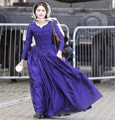 Jenna Coleman on location in Hartlepool, May 10, 2017.