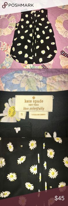 """kate spade daisy blouse New without tags. No trades, please. Offers welcome. Hit """"add to bundle"""" button for a private, non-obligatory offer. All items in my closet are in mint condition and have been loved and cared for, and they come with a small thank you gift. kate spade Tops Blouses"""