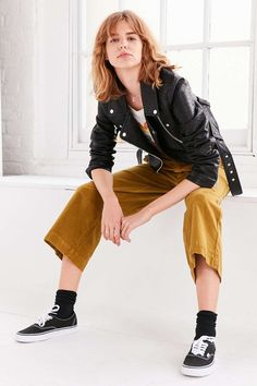BDG Margot Chino High-Rise Culotte Pant - Urban Outfitters