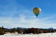 Hot-Air Ballooning Above the San Juan Mountains, Pagosa Springs, CO