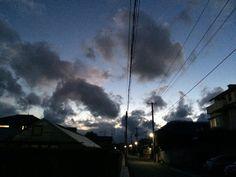    空 冬 夕焼け 晴 曇り 素材として使用可    December 27 2015 at 06:20PM     nagamel.tumblr.com