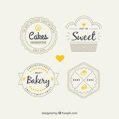 Paquete de logos de panadería retro Más