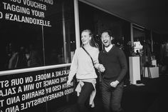 Event report : elle party x zalando : Welcome to the Zalando Fashion House of now at de shop on the rijnkaai. Ruth van soom en Ilja Smets