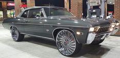 1968 Chevy Impala Convertible on Forgiato Wheels 1968 Chevy Impala, Chevrolet Impala, 66 Impala, Chevrolet Malibu, Chevy Classic, Classic Cars, Gta, Donk Cars, Pontiac