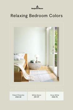 Looking for calming paint colors for your bedroom? Check out these soothing bedroom color schemes—all homeowner favorites. Relaxing Bedroom Colors, Calming Paint Colors, Tranquil Bedroom, Bedroom Color Schemes, Bedroom Paint Colors, Benjamin Moore Colors, Painting Trim, Bedroom Styles