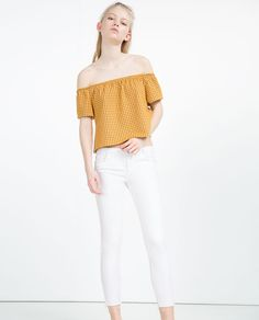 OFF-THE-SHOULDER TOP-Short sleeve-T-SHIRTS-WOMAN   ZARA United States