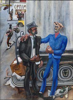 Credit: Estate of Edward Burra/courtesy Lefevre Fine Art Ltd, London Harlem Scene Harlem Renaissance, Renaissance Artists, Love Painting, Figure Painting, African American Expressions, George Grosz, Africa Art, Art Deco, Royal College Of Art