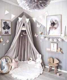 A little girls room inspo for your Easter Sunday featuring our beautiful Mrs Mighetto prints. We have the whole new collection of 'The End Of The Forest' prints available now at the link in our bio. We hope your Easter was as magical as this space Image via @andrealingjerde