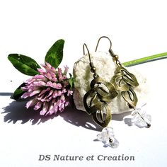 Nature jewelry bohemian clear crystal by DSNatureetCreation www.etsy.com/listing/233397352/nature-jewelry-bohemian-clear-crystal?ref=shop_home_active_3