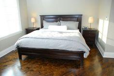 Solid Wood Hudson Ridge Panel Bed Low Footboard