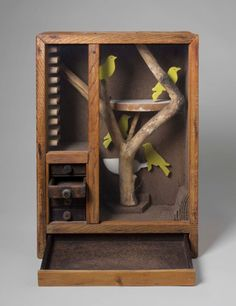 TREES IN ART • L'ARBRE DANS L'ART | Joseph Cornell (Am. 1903-1972), Untitled (Aviary...