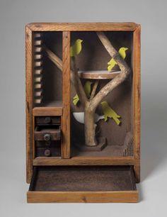 TREES IN ART • L'ARBRE DANS L'ART | Joseph Cornell (Am. 1903-1972), Untitled (Aviary...