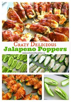 Echoes of Laughter: Jalapeno Poppers Minus the BBQ sauce I Love Food, Good Food, Yummy Food, Tasty, Easy Summer Meals, Summer Recipes, Summer Bbq, Jalapeno Popper Recipes, Bacon Wrapped Jalapeno Poppers