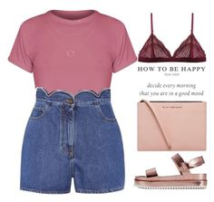 """""""How to be happy"""" by theapapa ❤ liked on Polyvore featuring Valentino, Kurt Geiger, Cosabella and Zara"""