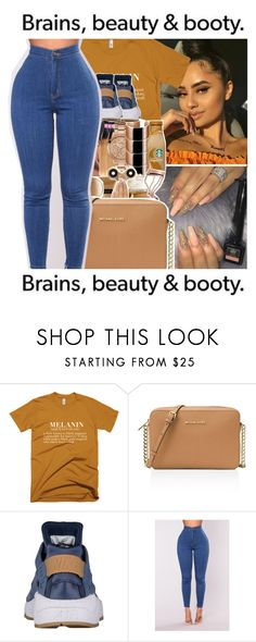 """Untitled #845"" by issaxmonea ❤ liked on Polyvore featuring MICHAEL Michael Kors and NIKE"
