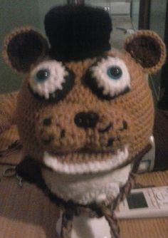 Crochet Animal Hats: FREDDY from five nights at Freddy's
