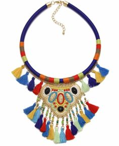 Add a touch colour and creativity to your outfit with our Collection. This season is all about chunky chains, vibrant tassels and statement pieces. Get festival ready as you browse our selective range of jewellery. Festival Jewellery, Bohemian Necklace, Boho Chic, Gypsy, Tassels, Vibrant, Chokers, Chain, Beads