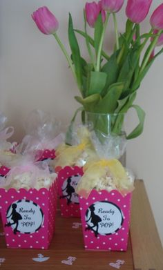 Ready to pop baby shower party favor (would be fun with my yummy popcorn recipe)