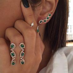 Djula Jewelry. Emerald and diamond jewelry collection