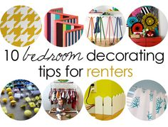 10 bedroom decorating tips for renters: thrifty and unique ideas for renters and home owners alike.  #kidsbedrooms #thrifty