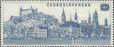 Bélyeg: Bratislava (Csehszlovákia) (Nemzetközi idegenforgalmi év 1969) Mi:CS 1679,Yt:CS 1541,AFA:CS 1524,POF:CS 1585