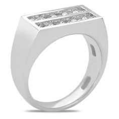 Ebay NissoniJewelry presents - Mens 1CT Diamond Double Row Ring 14k White Gold Patent Comfort Fit    Model Number:GRV3433K-W477    http://www.ebay.com/itm/Mens-1CT-Diamond-Double-Row-Ring-14k-White-Gold-Patent-Comfort-Fit/321612115645