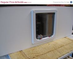 nowOn SALE Cat Door Window Mounted for Sash by Theculturedcat