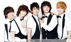 SHINee, the youngest boy group at the time of their debut in 2008 with SM Entertainment.