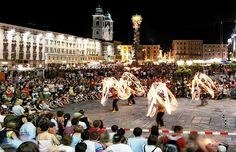 Pflasterspektakel street festival in austria. happens every year in the last half of july