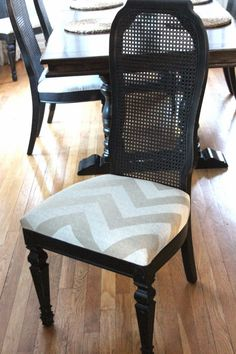 two toned dining chairs she painted the caning a different color