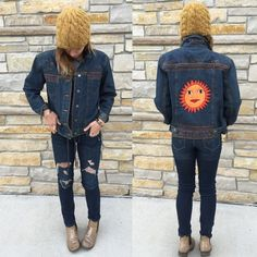 DENIM DESIGNS DENIM  DESIGN // Beaded Detail at front/back/collar // Posted as size1 wears as a medium // Great Condition // Offers and Bundles Welcome Chico's Jackets & Coats Jean Jackets