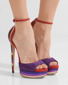 JIMMY CHOO Max metallic leather-paneled suede platform sandals | Buy ➜ https://shoespost.com/jimmy-choo-max-metallic-leather-paneled-suede-platform-sandals/