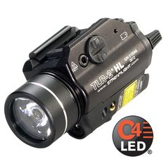 The TLR-2 HL with red laser provides a 630 lumen blast of light for maximum illumination while clearing a room or searching an alley. Its wide beam pattern lights up large areas so you can identify who or what is nearby.technology, impervious to shock with a 50,000 hour lifetime