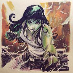 "comic-book-ladies: ""She-Hulk by Mike Henderson """