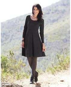 Tall Textured Jersey Skater Tunic Dress at Simply Be