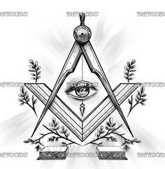 "Winning design for ""Freemasonry Tattoo"" Masonic Art, Masonic Lodge, Masonic Symbols, Freemason Tattoo, Masonic Tattoos, Esoteric Art, Egyptian Tattoo, Dark Tattoo, Freemasonry"