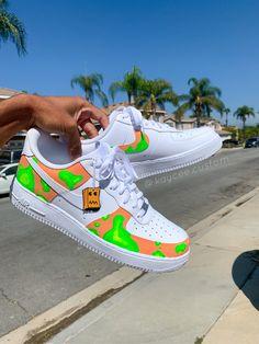Lava Lamp AF1 by kaycee.customs Nike Air Shoes, Sneakers Nike, Jordan 1 Red, Custom Jordans, Nike Af1, Fresh Shoes, Custom Shoes, White Nikes, Lava Lamp