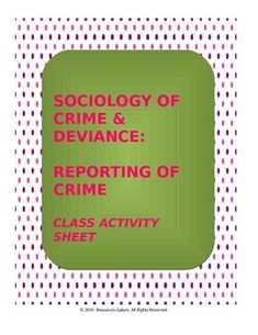 Here is a product which provides various scenarios related to crime to examine students' perceptions about whether these crimes would be reported to police or not. This is followed by a critical question which might instigate a lively discussion in class!Check out more quality, ready-to-use resources:More from Resources GaloreFollow me on:PinterestThank you for visiting my store!*****************************************************************************CUSTOMER TIPS:Dont Forget to collect…