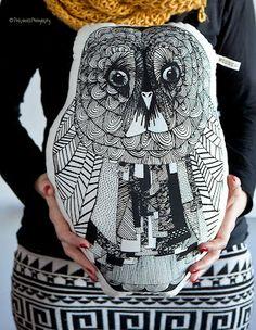 Superduper owl pillow by Mooncake design Owl Pillow, Mooncake, Creative Kids, My Children, Little Ones, Pillows, Blog, Handmade, Inspiration